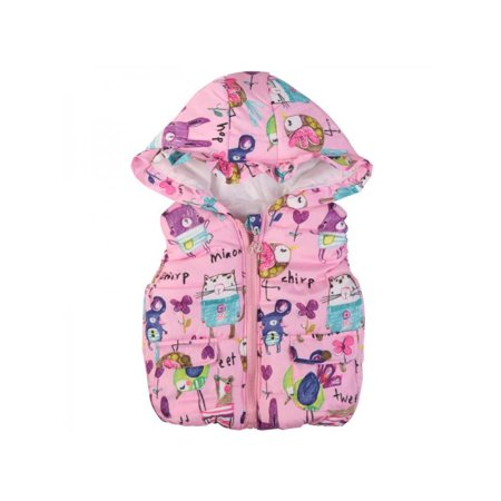 Kids Waistcoat (Ropalia Girls Zipper Coat Kids Hooded Vest Outwear Waistcoat Overcoat)