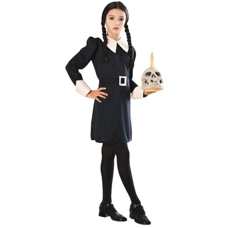 Morris Costumes Girls Addams Family Wednesday Black Costume Large, Style RU882631LG - Wednesday Adams Family Costume