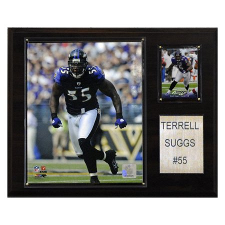 C&I Collectables NFL 12x15 Terrell Suggs Baltimore Ravens Player - Baltimore Ravens Room Decor