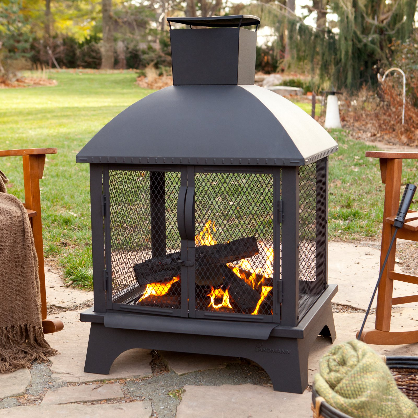Landmann Redford Outdoor Fireplace by Landmann