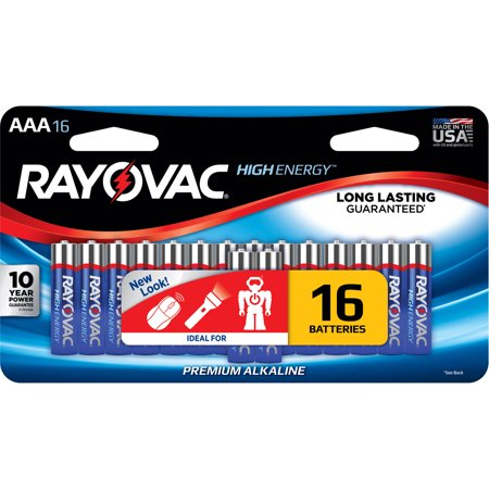 Rayovac High Energy Alkaline Aaa Batteries  16 Count