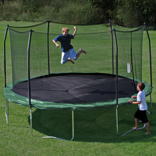 Skywalker Trampolines 15' Round Trampoline and Enclosure, Green (Box 2 of 2)
