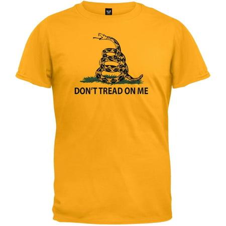 Dont Tread On Me Gadsden Flag Gold T Shirt