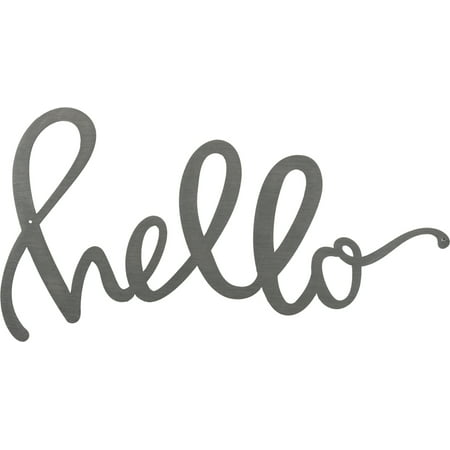 Wooden Hello Sign (Metal Word - Hello)