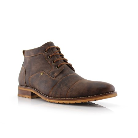 Ferro Aldo Blaine MFA806035 Brown Color Men's Stylish Mid Top Boots For Work or Casual