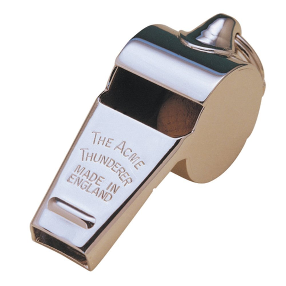 Acme Thunderer Whistle 60.5, Small, High, Loud, Metallic Silver