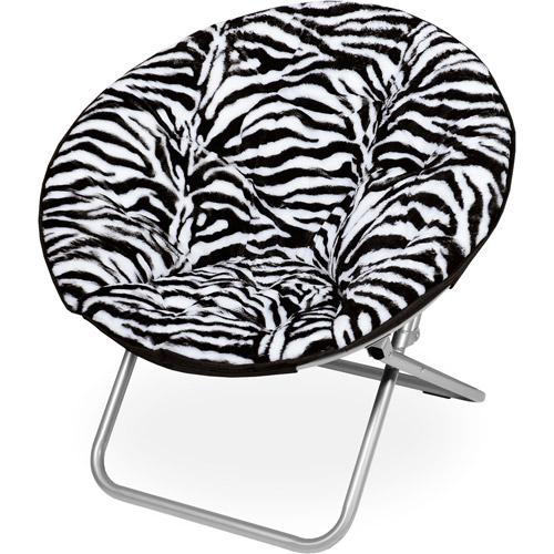 Saucer Chair, Zebra Fur