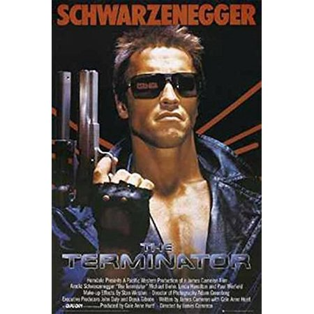 The Terminator - Arnold Schwarzenegger with Gun 36x24 Movie Art Print Poster (Guy Movie Poster)