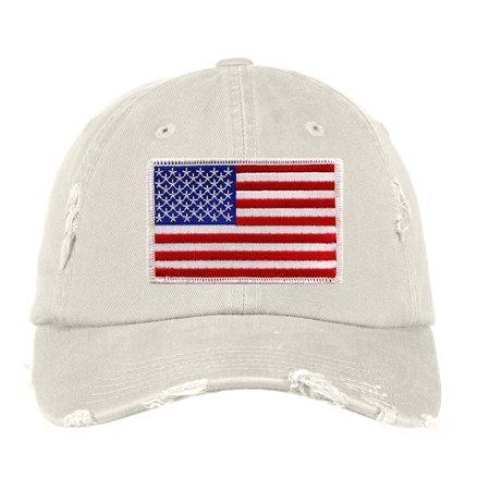 Custom Apparel R Us - Distressed Baseball Cap Women Disressed Hats for Men  Embroidered American Flag - Walmart.com a371acc4cd