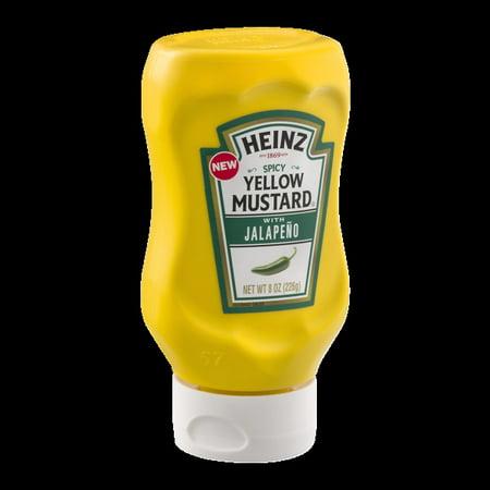 Mild Yellow Mustard - (3 Pack) Heinz Spicy Yellow Mustard with Jalapeno, 8 oz Bottle