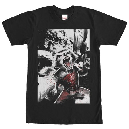 Marvel Men's Guardians of the Galaxy Rocket Roar T-Shirt (Roaring 20s Mens Clothing)