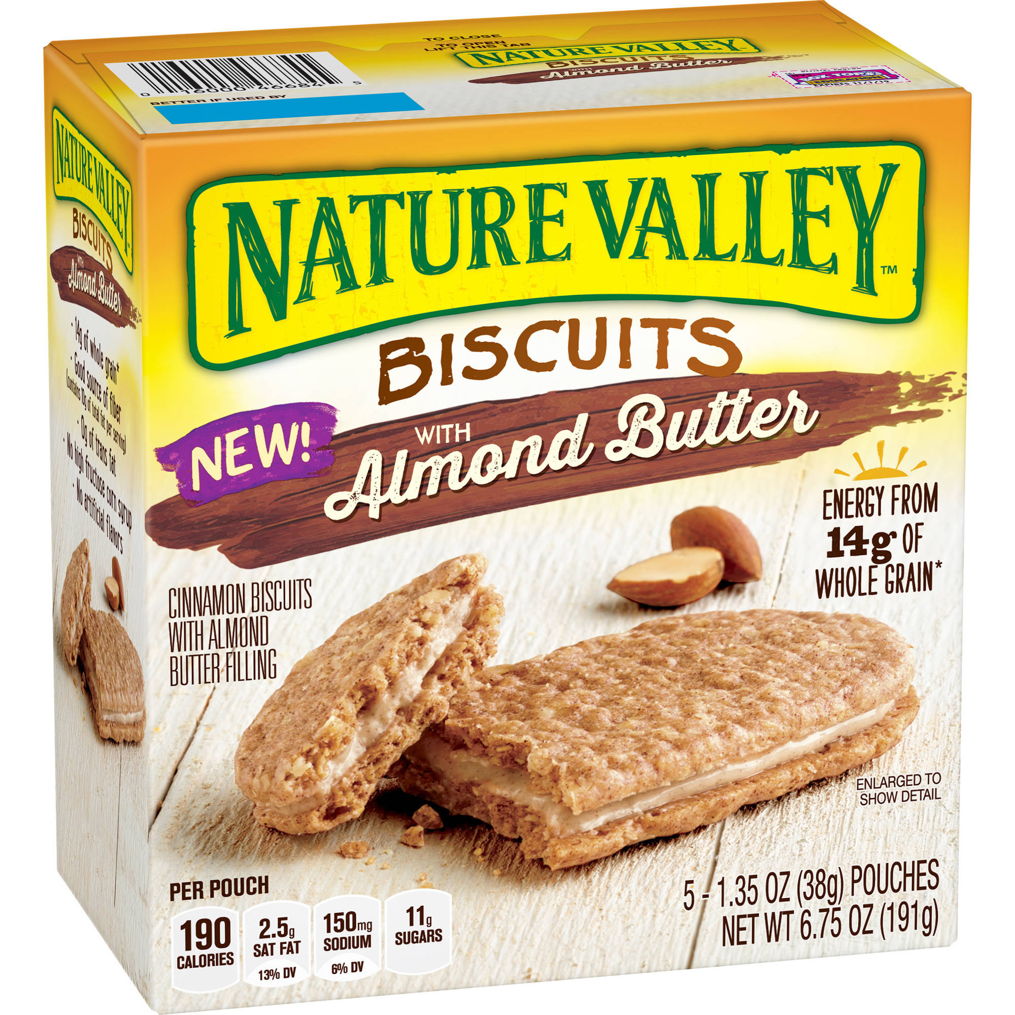 Nature Valley Biscuits with Almond Butter, 1.35 oz, 5 count