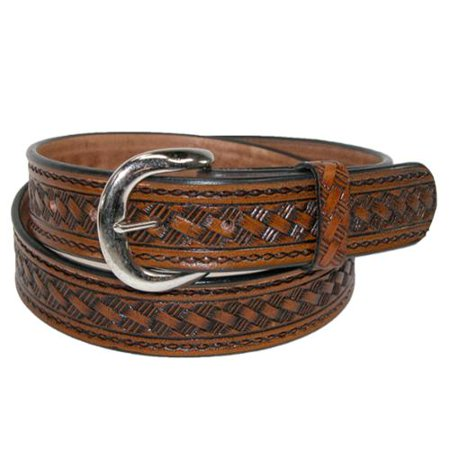 Men's Leather 1 3/8 Inch Western Belt with Removable (Justin Western Belts)