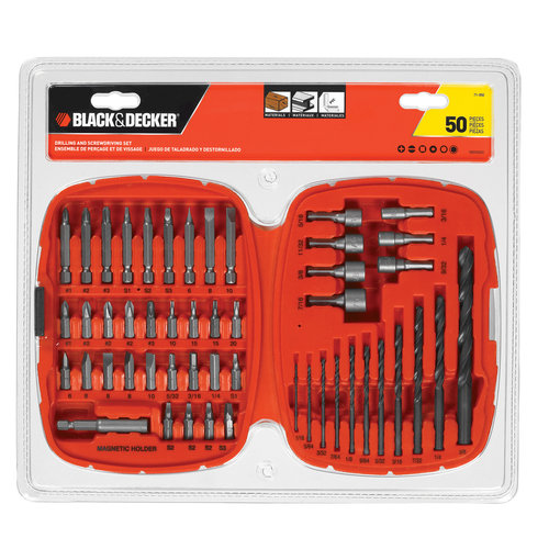 Black & Decker Drill/Screwdriver Bit Set, 50pc