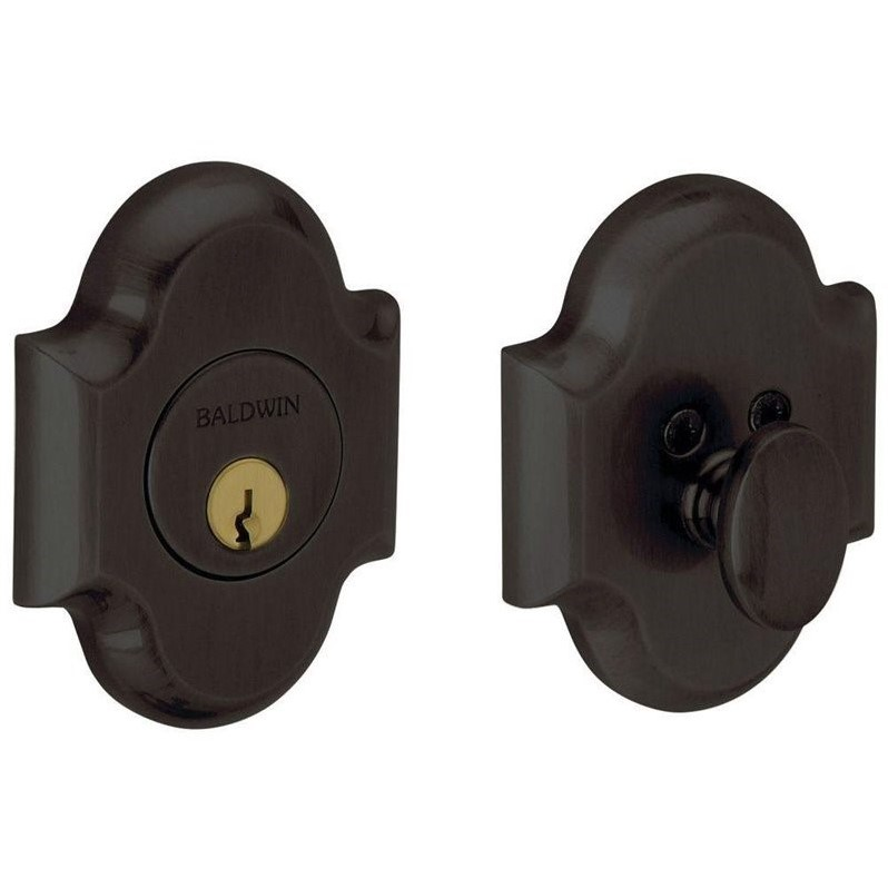 Arched Single Cylinder Door Prep Oil-Rubbed Bronze Deadbolt