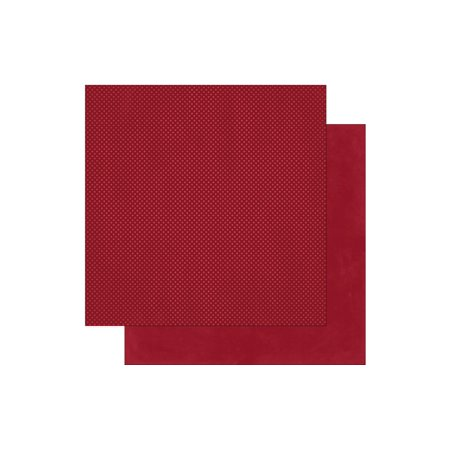 Bo Bunny Double Dot Paper 12x12 Cranberry (pack of 25) Bo Bunny Double Dot