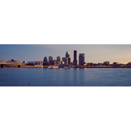 George Rogers Clark Memorial Bridge with city skyline at the waterfront Ohio River Louisville Kentucky USA Canvas Art - Panoramic Images (27 x 9)](City Of Parma Ohio Halloween)