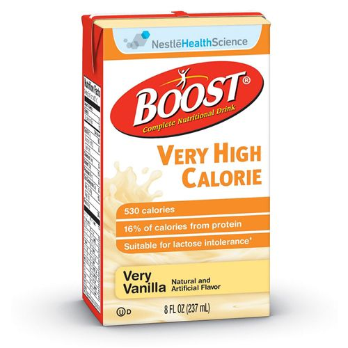 Boost VHC Oral Supplement Very Vanilla, 8 oz. Carton, Ready to Use, Case of 27