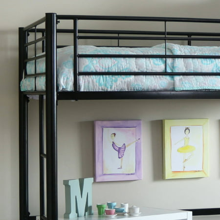 Premium Twin Metal Loft Bed by Manor Park