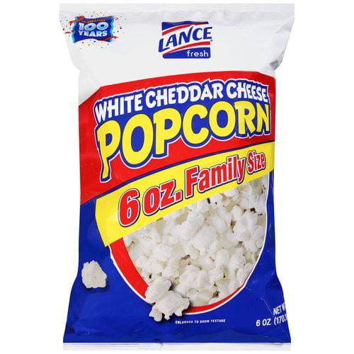 Lance White Cheddar Cheese Popcorn, 6 oz