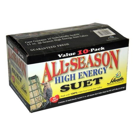 Heath™ DD4-10 All Season High Energy Suet Cake, 11.25 Oz, 10-Pack