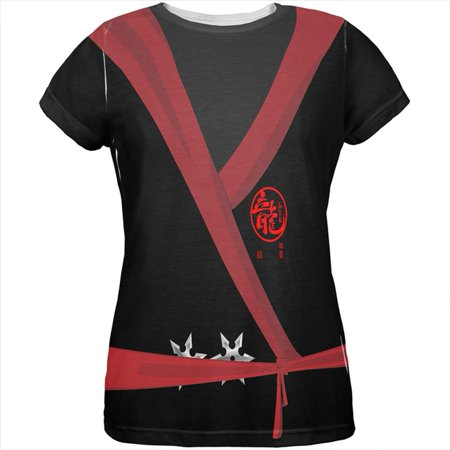 Halloween Evil Shadow Ninja Costume All Over Womens T Shirt
