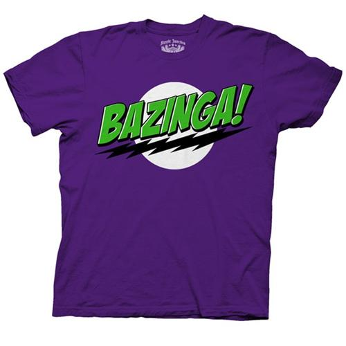 Big Bang Theory Bazinga T-Shirt (Purple)