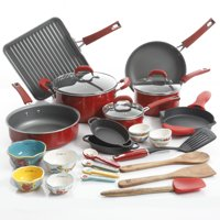 The Pioneer Woman 30-Piece Cookware Set (Red)