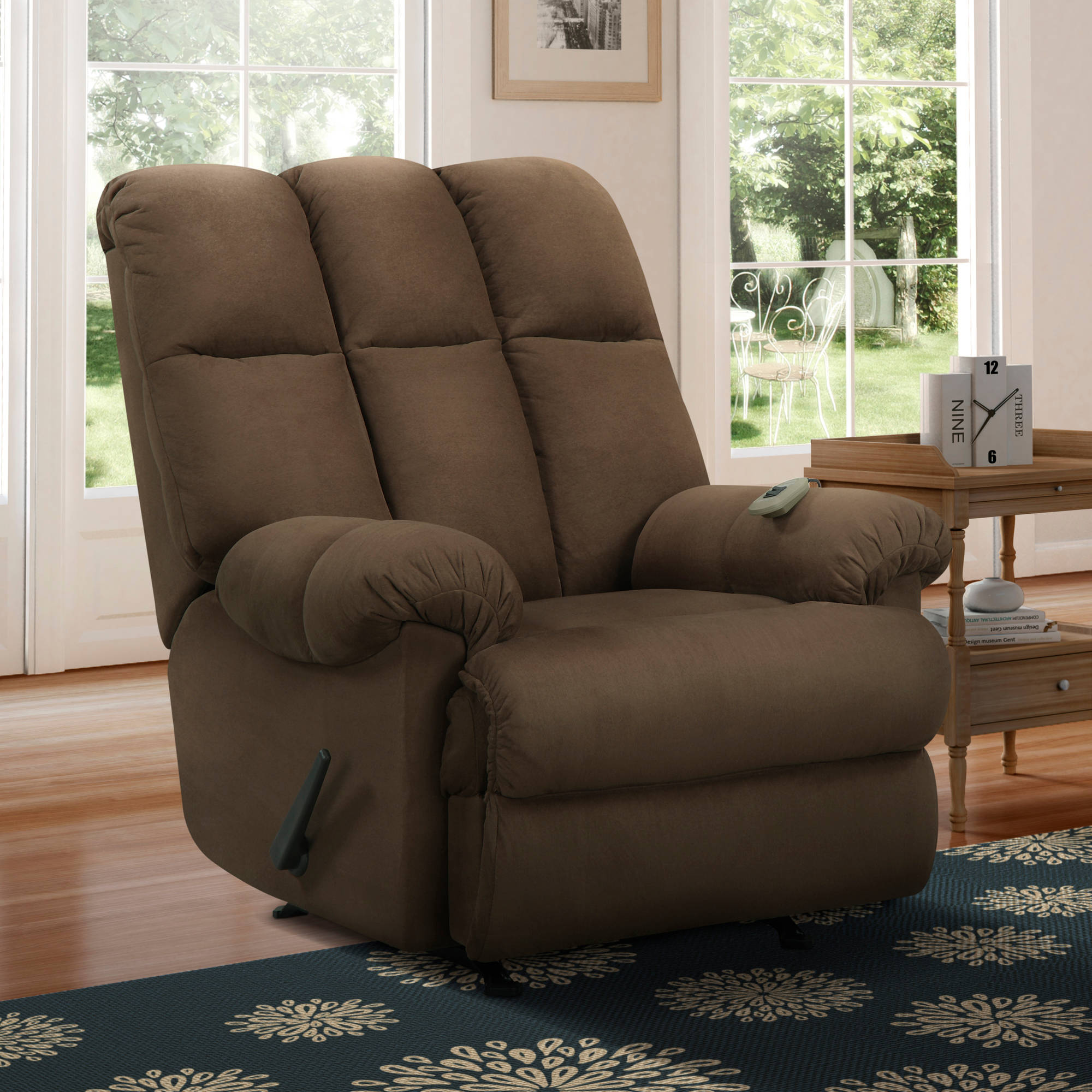 Dorel living padded massage rocker recliner multiple colors walmart com