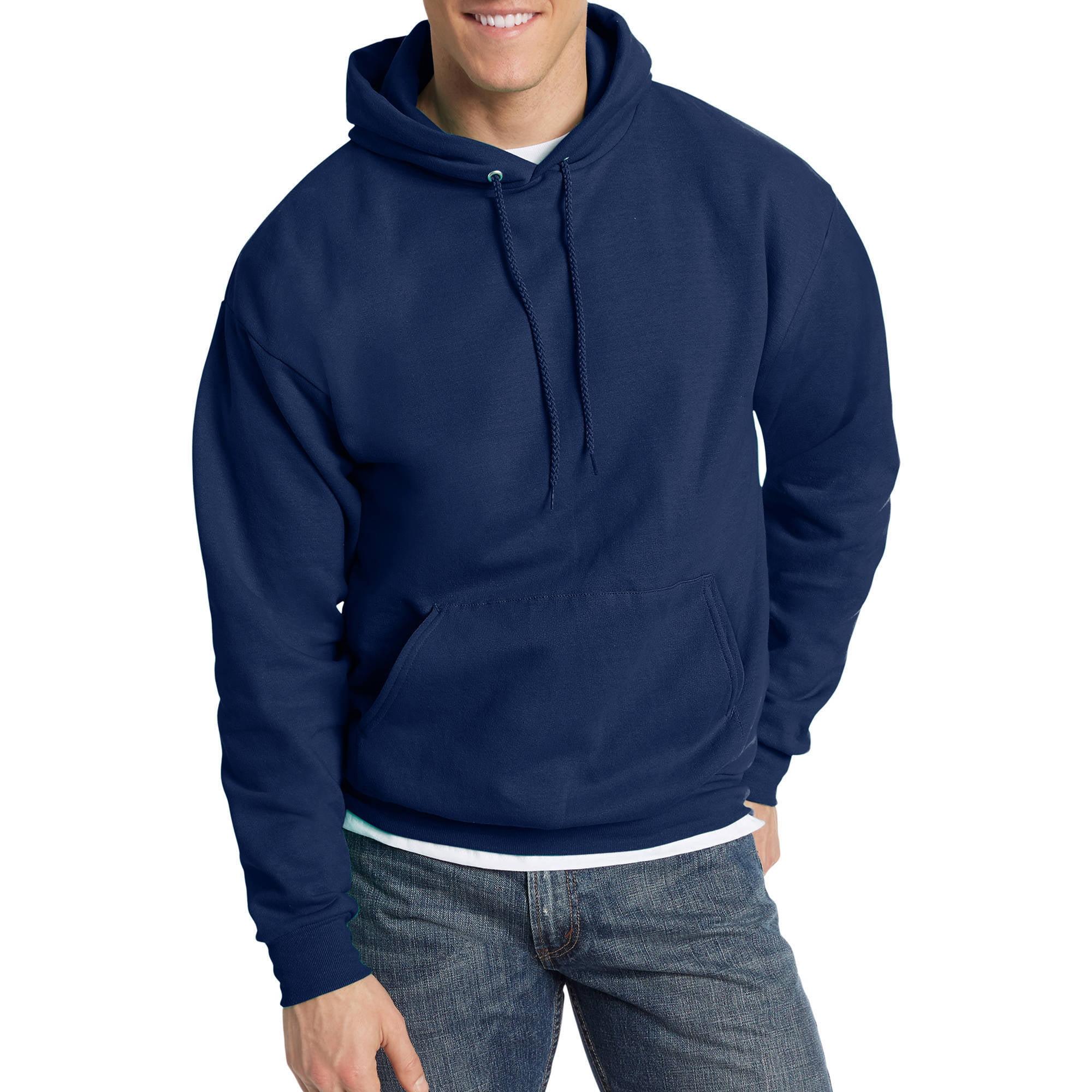 Hanes Men's EcoSmart Fleece Pullover Hoodie with Front Pocket ...