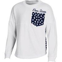 Girls Youth White Penn State Nittany Lions Fan Oversized Long Sleeve T-Shirt