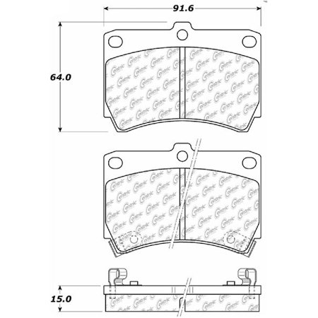 Go-Parts » 1990-1995 Mazda 323 Front Disc Brake Pad Set