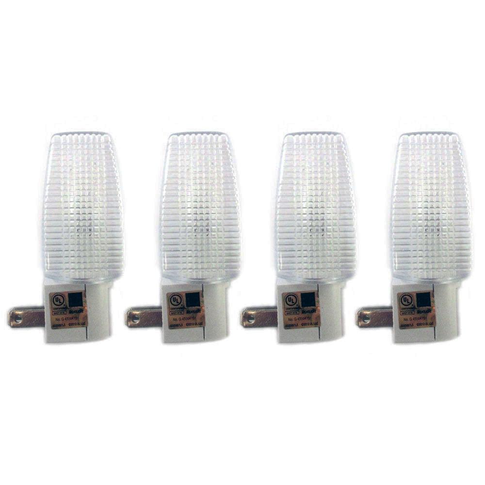 4 Night Light Energy Saving Automatic Sensor Wall Plug In Lite Nightlight Lamp ! by TRISONIC