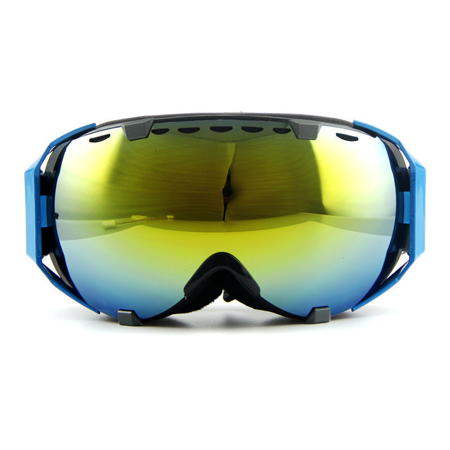 Ediors Ski Snowboard Goggles,Anti Fog Eyewear Double Lens snow Mountain/UV Protection goggle for Male and Female (105-10, Revo Gold) (Snow Goggles Uk)