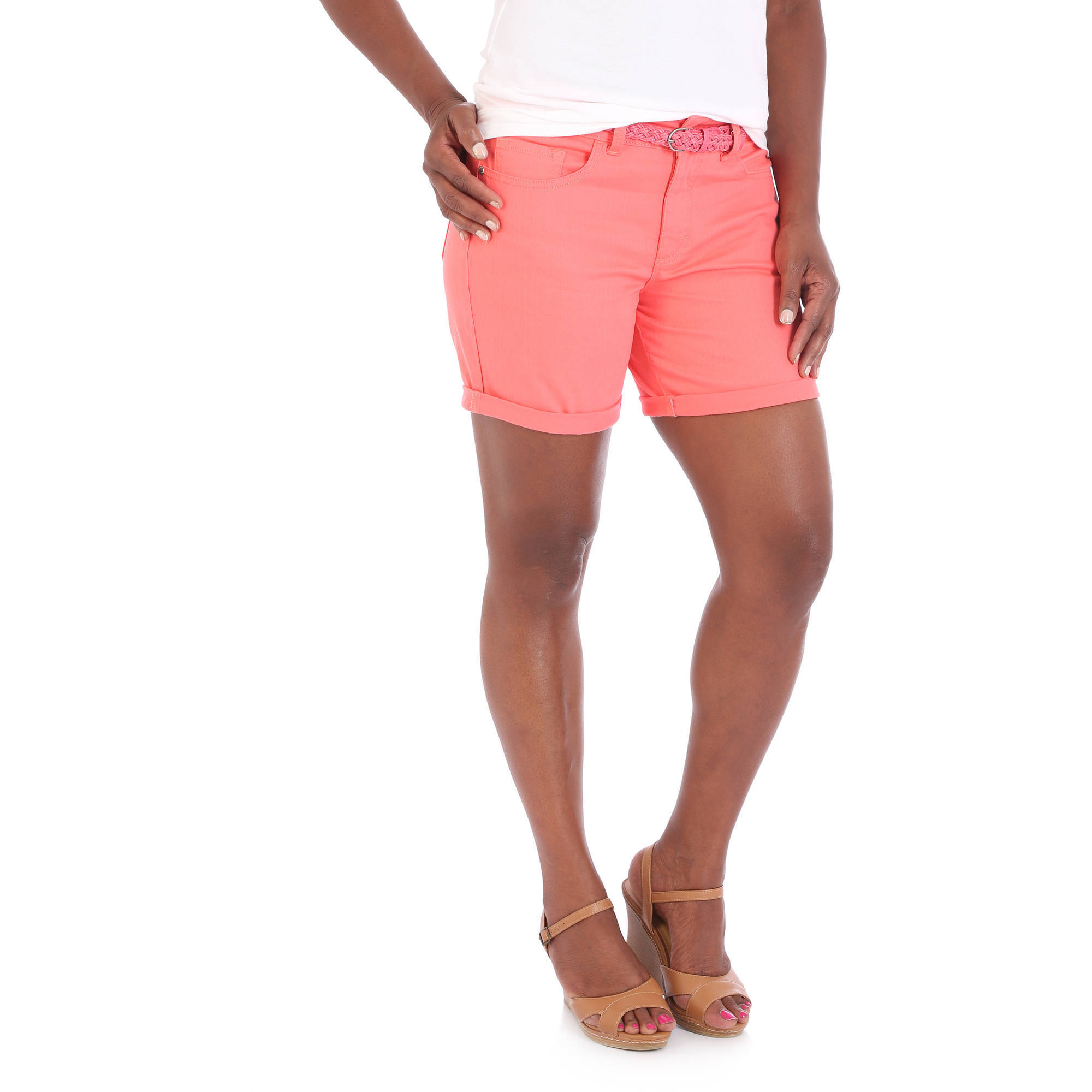 """Riders by Lee Women's 6"""" Belted Cuff Short"""