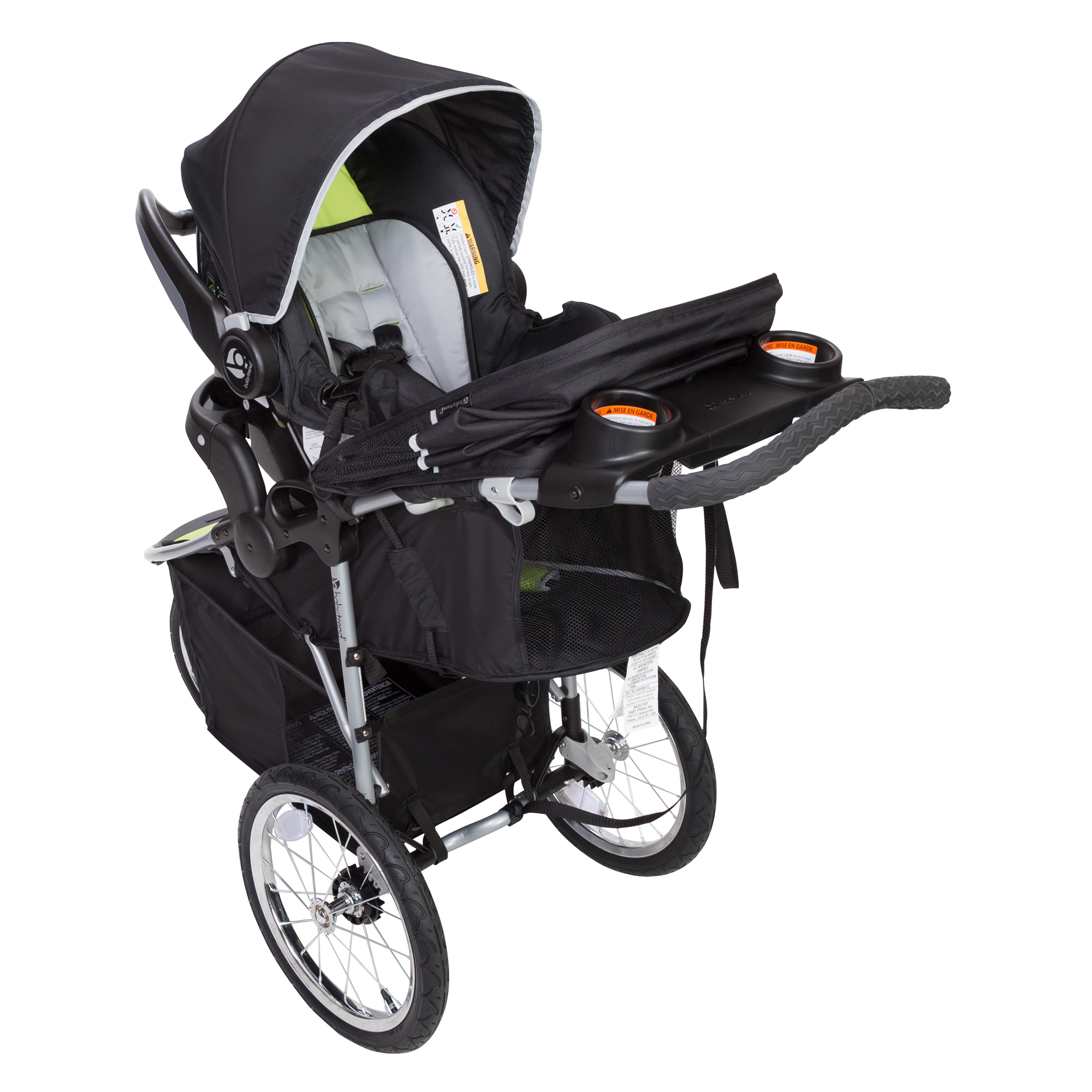 Jogger Travel System Outdoor Jogging Stroller Car Seat Baby Safety Optic Green