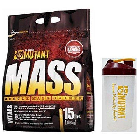 Mutant Mass Gainer 15 Pound W / secoueur (Banane Fraise)