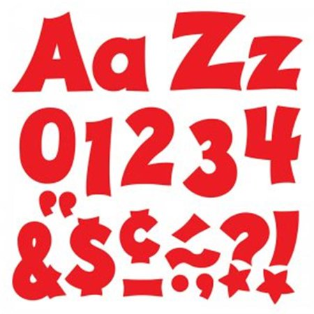 Trend Enterprises T-79803BN 4 in. Upper & Lowercase Ready Letters Combo Set, Red - Pack of 3 Lowercase Ready Letters