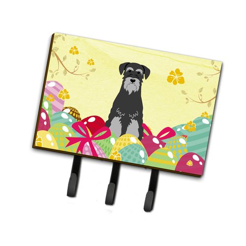 The Holiday Aisle Easter Eggs Standard Schnauzer Leash or Key Holder
