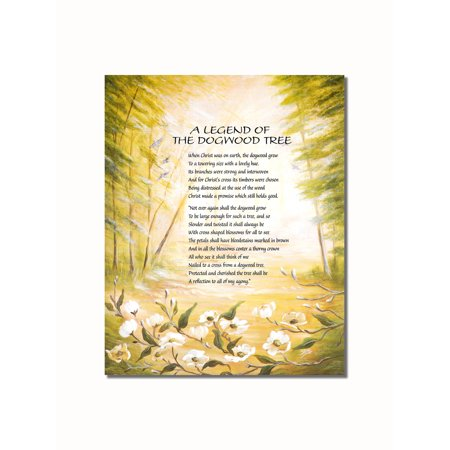Legend of the Dogwood Tree Christian Religious Wall Picture 8x10 Art Print ()