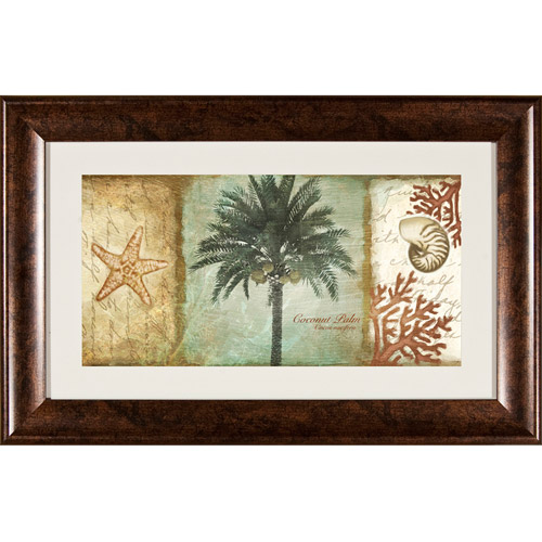 Pro Tour Memorabilia Coconut Tree and Shell Framed Artwork by Pro Tour Memorabilia