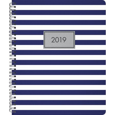 2013 Large Monthly Planner (2019 Weekly/Monthly Planner, Classic Stripes,)