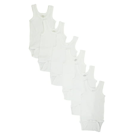 White Tank Top Onezie 6 Pack ()