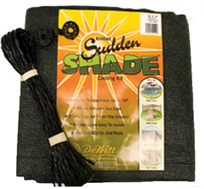 Sudden Shade Fabric, 12 X 12', Black, Dewitt, SSR12BLK