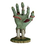 6.25 Inch Cold Cast Resin Decaying Zombie Hand with Worms Figurine