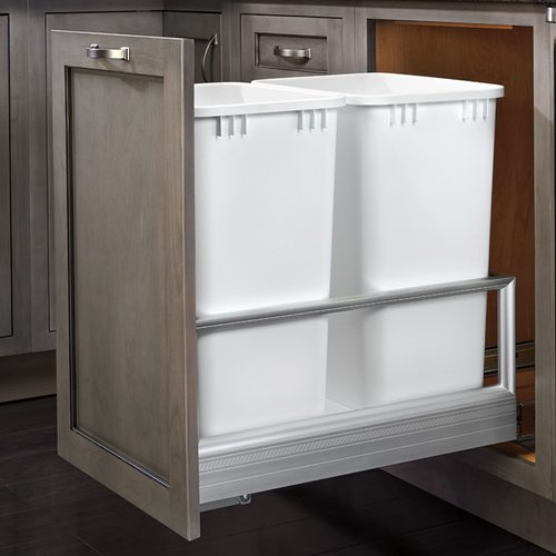 Rev-A-Shelf 14.19'' Double Pull out Trash Can