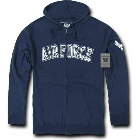 Us Navy Blue Jackets - RapDom US Air Force Full Zip-Up Mens Hoodie Jacket [Navy Blue - S]