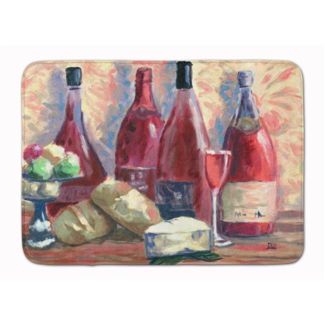 Carolines Treasures SDSM0127RUG Wine & Cheese by David Smith Machine Washable Memory Foam Mat - image 1 de 1