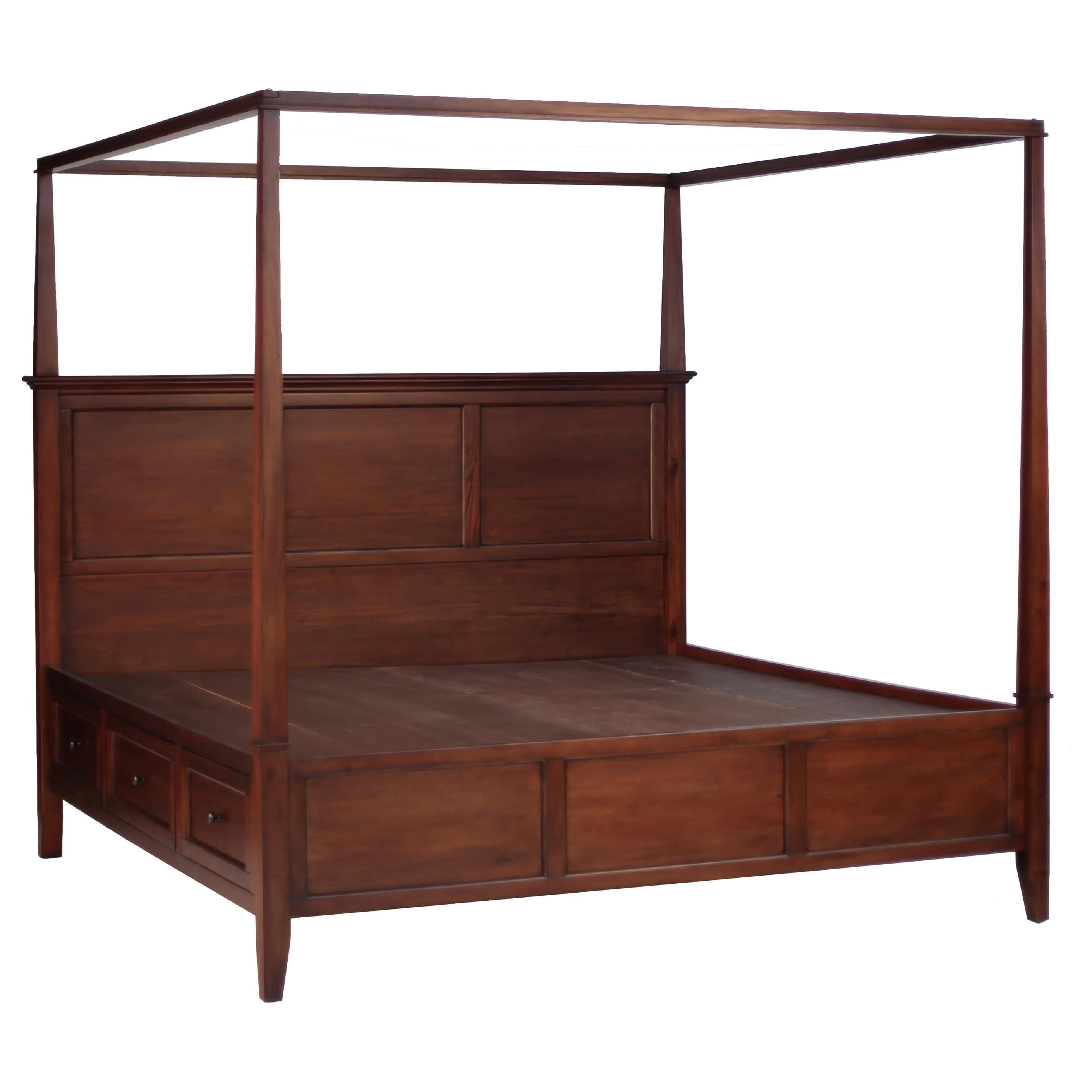 Simply Solid  Araceli Solid Wood Canopy Storage Bed