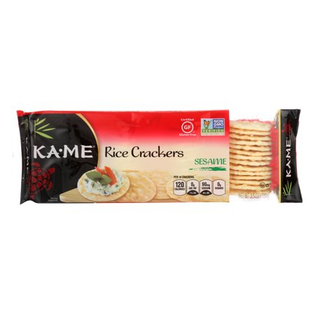 Kame Sesame Crackers - Ka'Me Rice Crackers - Sesame - 3.5 oz.